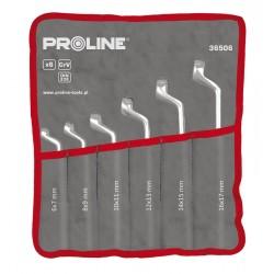 Ringnyckel böjd, med offset sats - 6 7-16 20-22, 8  st  PROLINE