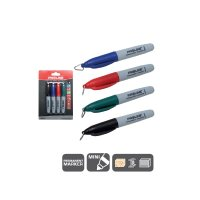 "Penna permanent ""MINI""  4st. (svart, blå, röd,grön)  PROLINE"