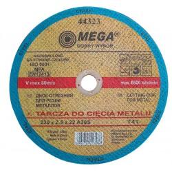 CUTTING DISK för METAL, T41, 230X2.5X22A30S MEGA