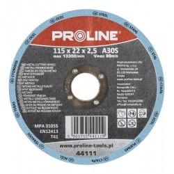 Slipskiva för metall T27 115x6x22A24R PROLINE