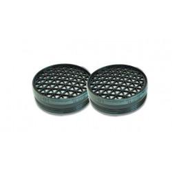 UNO NEW filter A1, P2, för skyddsmasken med art.nr. 46063, 2st.