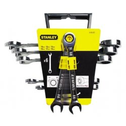 Ringnycklar / blocknycklar med spärr sats 6st MET (hängbar butiksförpackning)