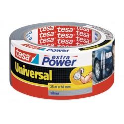 Vävtejp / silvertejp, universal, Extra Power 25m x 50mm, TESA