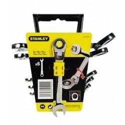 Kombinyckel sats 6st, med led och spärr, MAXI-DRIVE Plus, inkl. hållare, Stanley