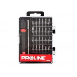 Precisionsskruvmejsel, bits, sats med 30 utbytbara spetsar, precisionsverktyg, Proline