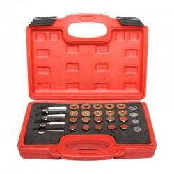 Reparationskit för oljepluggar, omgängningssats oljeplugg. 64st, M13, M15, M17, M20, Proline