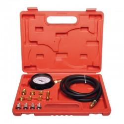 """Oljetryckstestare, komplett sats 12st., 0-300 psi (0-21 bar) och slang 60cm med 1/8"""" koppling, 11 adaptrar, Proline"""