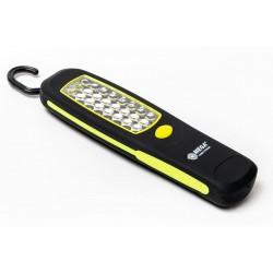 Arbetslampa, 24st LED, med magnet och krok, AA batteridrivet