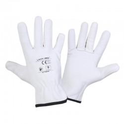 Handskar, äkta getskin, vita, st.  9, CE, EN 420, Lahti Pro L2710