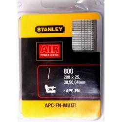 Stiftspik för spikpistol Stanley FN64, sats 25, 38, 50, 64mm, 800st (200st av avrje)