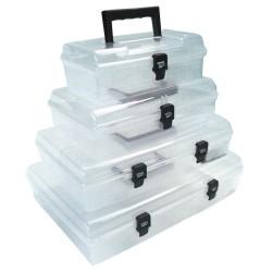 Förvaringsbox, organiser med handtag 6 fack 40x29.8x8.5 cm