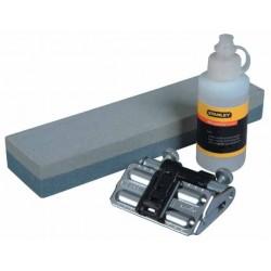 Slipsten, komplett kit inkl. olja och fäste 25/30/35 grader, för slipning av knivar m.m.