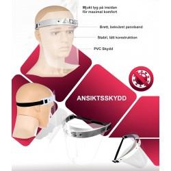 Skyddsvisir 1st, ansiktskydd, visir av PVC (säljs i 5-pack)