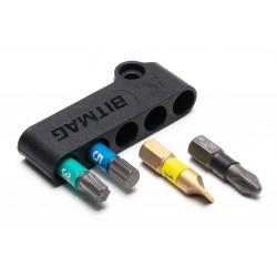 Bitmag komposit, magnetiskt bitshållare, borrhållare, hylshållare, Made in Sweden