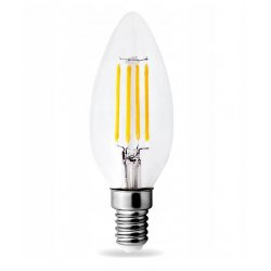 Vintage glödlampor LED E14 4W 430lm, 2700K varmt gulaktigt ljus, 6st
