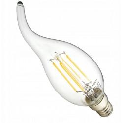 Vintage glödlampor LED E14 4W 470lm, i form av en eldlåga, 2700K varmt gulaktigt ljus, 4st