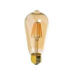 "Vintage glödlampor LED E27 ST64 ""Edison"" 6W 540lm, 2500K varmt gulaktigt ljus, 4st"