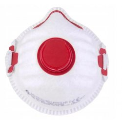 Andningsskydd 1st, andningsmask med ventil, skyddar mot virus bakterier m.m. FFP3, CE  (minsta order 5st)