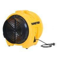 Mycket stark och tålig bärbar industrifläkt, rörmodell, gul plast, 40cm 7800 m³/h, 750W Master BL 8800