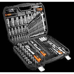 """Hylsnyckelsats 219 delar 1/4"""", 3/8"""", 1/2"""" CrV, hylsor, spärrhandtag, blocknycklar, bits m.m. Neo Tools"""