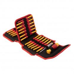 Skruvmejslar 1000V, sats 50 delar, magnetiska spetsar, ergonomiskt grepp, Neo Tools