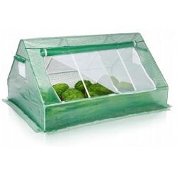 Plastväxthus, 180x140x94cm låg odlingstält för utomhusbruk GardenLine, växthustält med transparent grön folie, fönster med nät