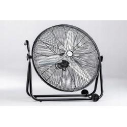 """Stor tyst fläkt, industrifläkt 60 cm (24"""") 160W, 60db, golvmodell med hjul, svart, Ravanson"""