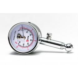 Däckstryckmätare, analog lufttrycksmätare för bildäck i metall, stor nogrannhet, RACE X RX0014