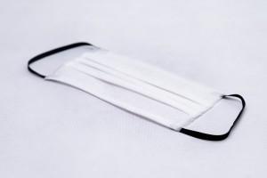 Andningsskydd 3P 50st vita med svarta gummi, munskydd, 3 lagers, STANDARD 100 OEKO-TEX®