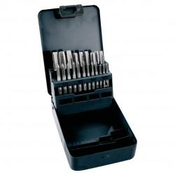 Sats med gängtappar 21st M3-M12, kromad stål, metall ask, Topex