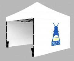 Eget tryck på tältet - c:a 1x1meter