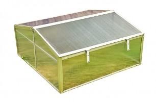 Miniväxthus, 100x100x48cm, litet växthus av aluminium och plast, för balkong och utomhusbruk