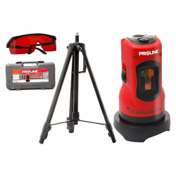 Laserpass, kors laser, med väska, stativ, skyddsglaögon, Proline