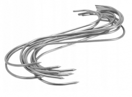Rökkrokar, 15st S formade förnicklade