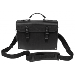 Verktygsväska av läder, tålig universal läderväska 30x19x12 cm, med axelrem