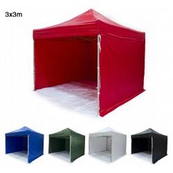 Tält 3x4.5m H35 Standard - mycket stabil expresstält, tillval för tryck, 4e vägg, dörr, fönster,  ramar (snabbtält, arbetstält, försäljningstält, eventtält, reklamtält)