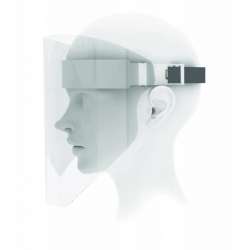 Skyddsvisir 1st, ansiktskydd, visir av PET 0,5mm 38x24,5cm (säljs i 5-pack)
