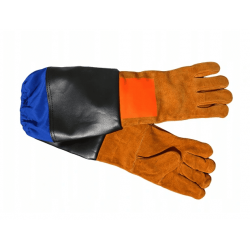 Blästerhandskar, skyddshandskar för blästring, läderhandskar 58cm