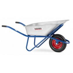 Trädgårdskärra 130L max 210kg, skottkärra, byggkärra av bra kvalitet som klarar stor last, CE, Higher
