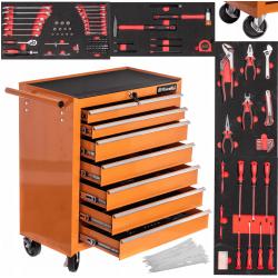 Verktygsvagn med verktyg, med 7 lådor, 78 x 68 x 33 cm, Riwall Pro