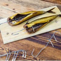 Rökkrokar för fisk, 10st specialutformade krokar i rostfritt stål