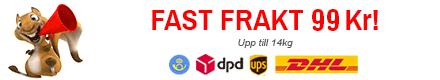 Fast fraktpris hos Verktygsgrossen - leveranser med UPS, TNT, DPD, Posten
